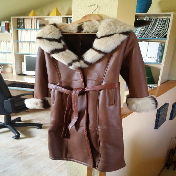 Abrigo piel peletería nacional