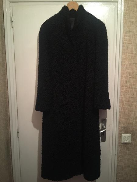 Abrigo astracán negro