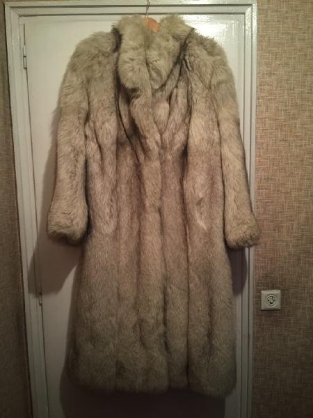 Abrigo zorro blanco