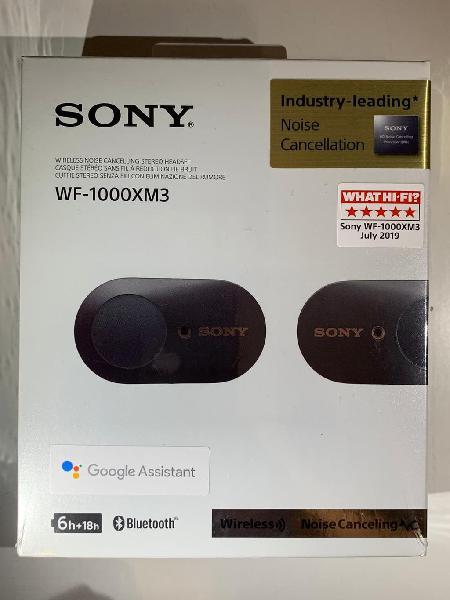 Auriculares sony wf-1000xm3 true wireless noise