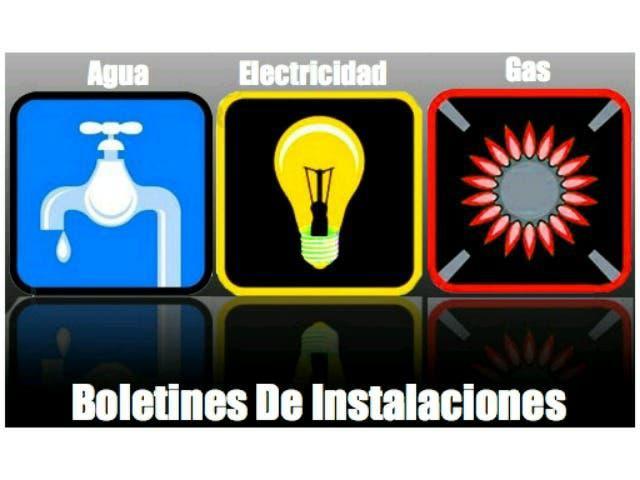 Boletines de luz, agua ,gas y climatización desde