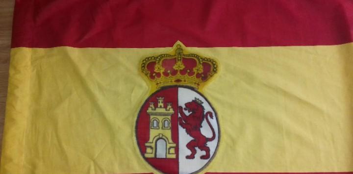Bandera de españa con escudo modelo 1785, escudo original