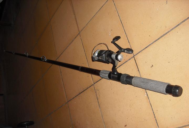 Caña de pesca usa stick con carrete y bobina geologic