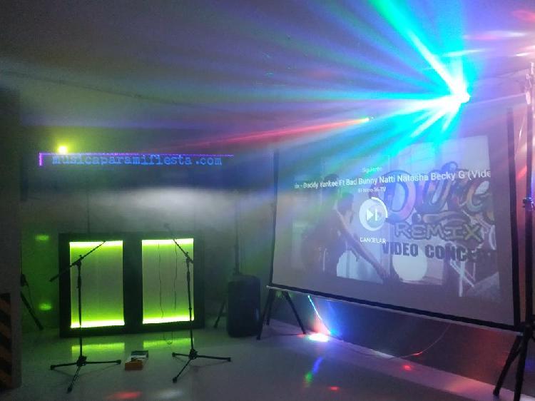 Equipo d.j completo3200 w, iluminacion, proyecto