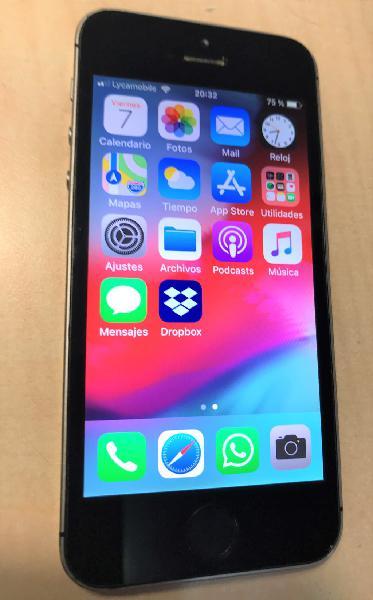 Iphone 5s de 16 gb negro, libre y batería nueva
