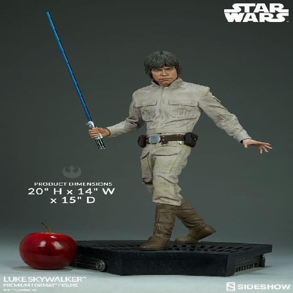 Luke skywalker estatua 1/4 premium format sideshow