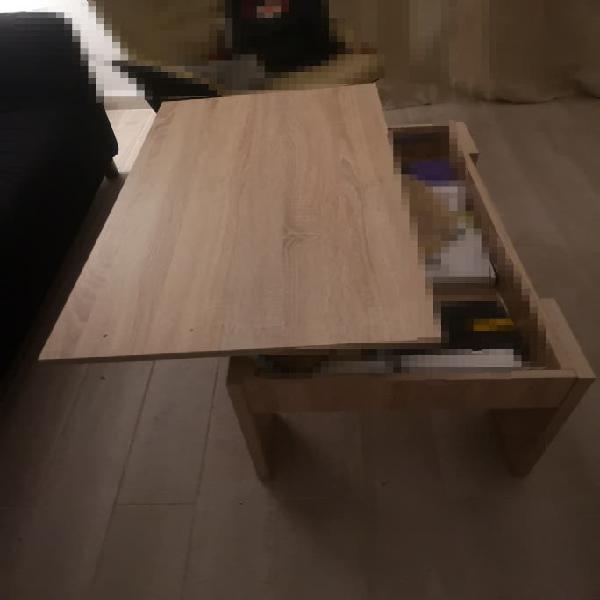 Mesa auxiliar de centro extensible / elevable