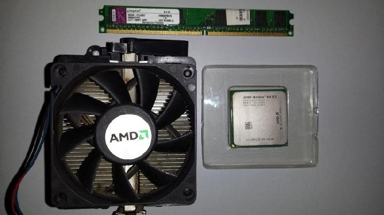 Procesador amd 64 x2 4200 con su disipador