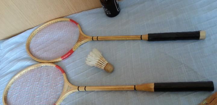 Raquetas de bádminton. años 60-70. buen estado
