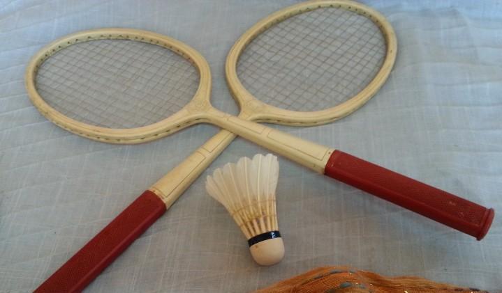 Raquetas de bádminton infantiles. años 90