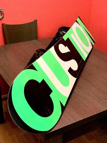 Snowboard - burton custom 156 + fijaciones cartel