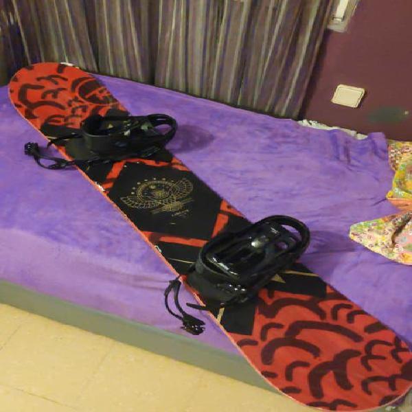 Tabla snowboard rossignol circuit 161w + fijacion
