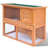 Vidaxl casa de animales pequeños jaula conejera 1 puerta