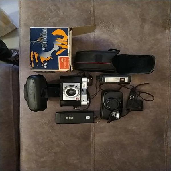 lote de cámaras y flash