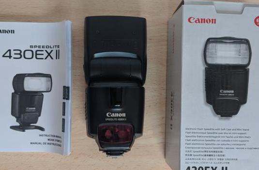 Flash canon 430 ex ii , en caja con muy poco uso!