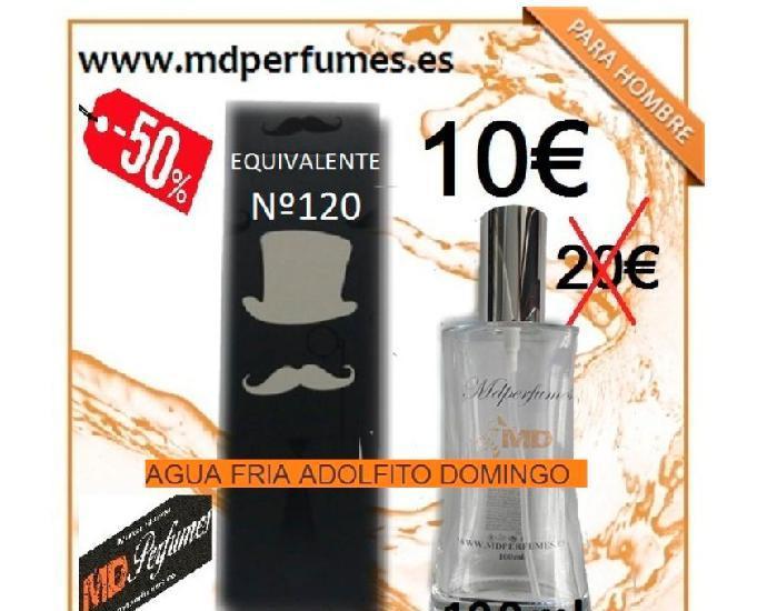 Perfume hombre equivalente alta gama nº120 agua fria adolfi