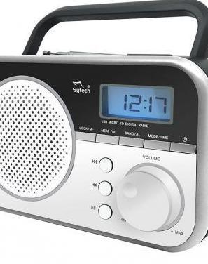 Radio digital pll, am-fm, usb, micro-sd, tempor.