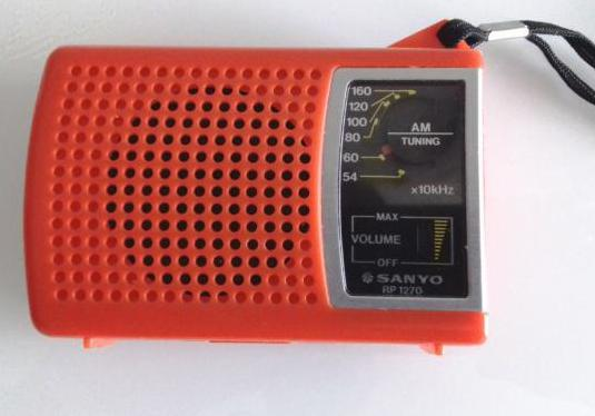 Radio transistor sanyo rp 1270