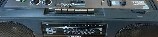 Radio cassette autoreverse grabadora sony