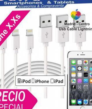 Apple cable usb lightning iphone xs xr x 8 plus 7
