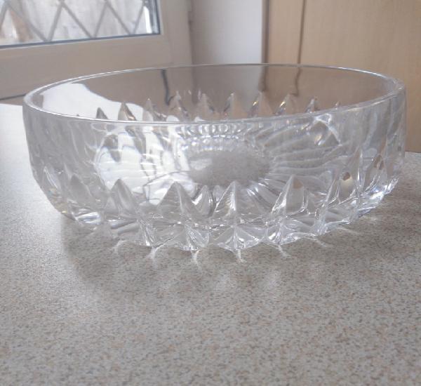 Bol, ensaladera, frutero cristal tallado inglés. diámetro