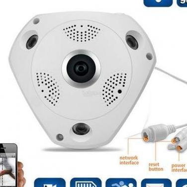 Camara vigilancia ip panoramica 3d nueva