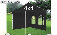 Carpa plegable 4x4m negro