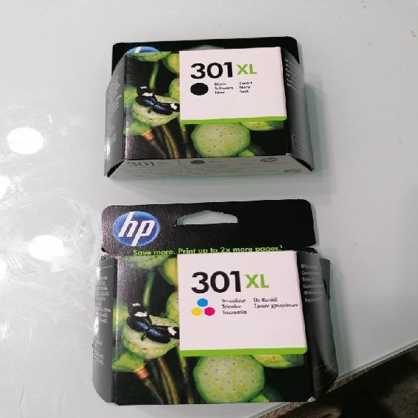 Cartuchos tinta hp 301 xl negro+tri-color