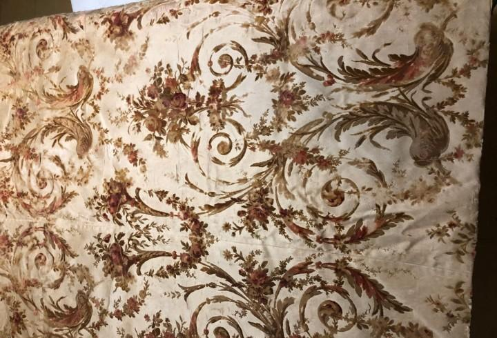 Espectacular tela de seda y terciopelo de seda