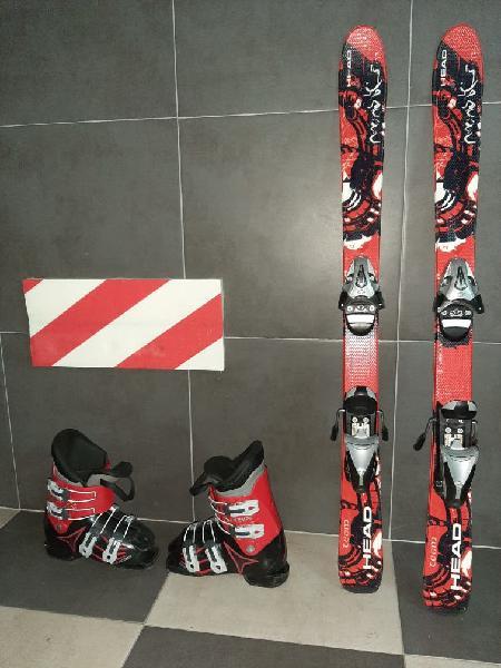 """Esquís niño niña """"head"""" botas atomic"""