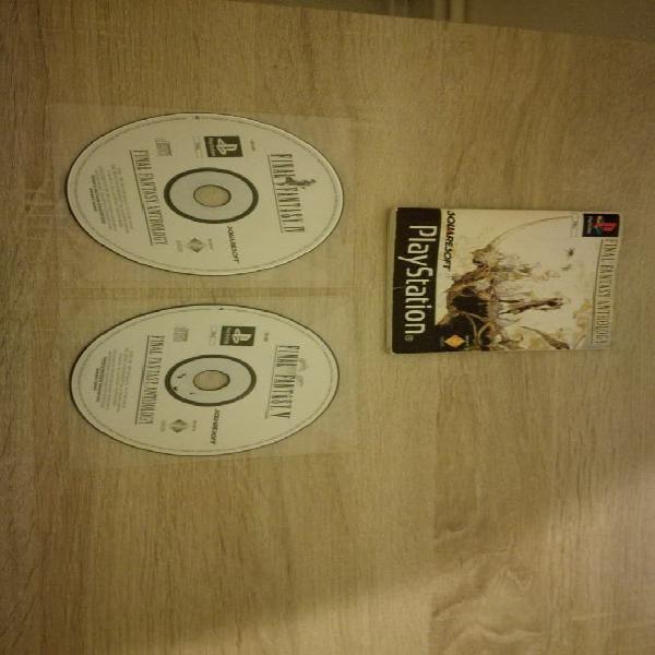 Final Fantasy Anthology (IV&V) PAL PS1 PSX PS2