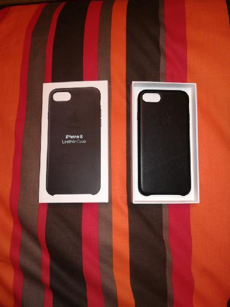Funda original iphone 8 lether case