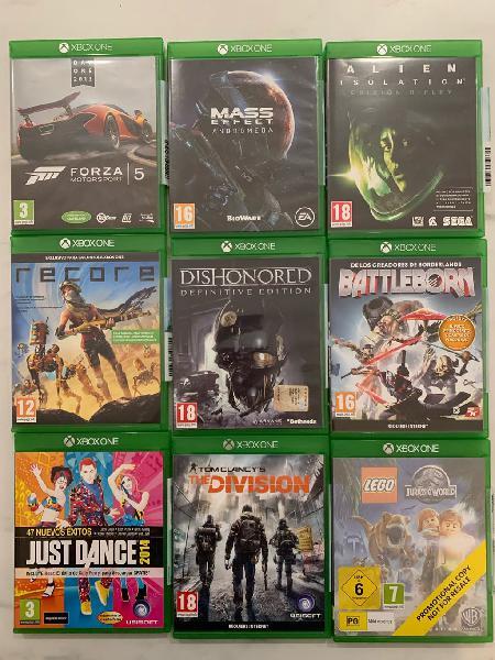 Gran surtido juegos Xbox One