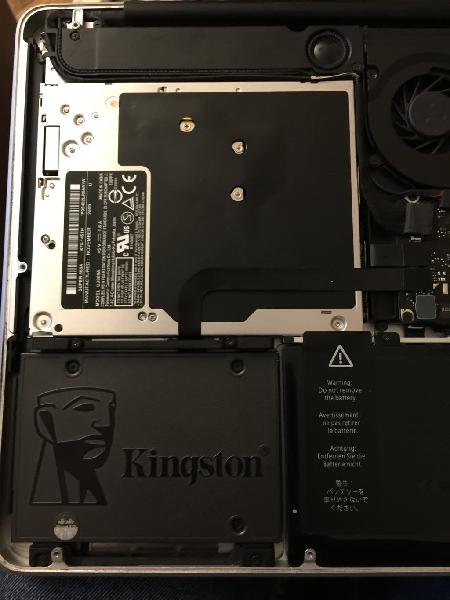 Instalación ssd para macbook pro