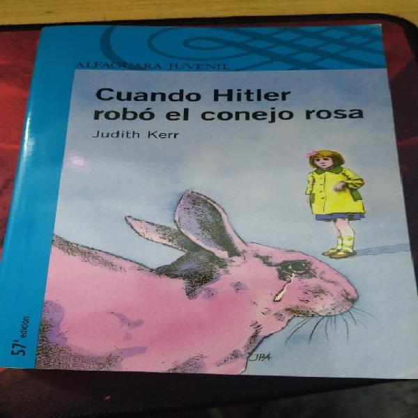 """Libro instituto""""cuando hitler robó el conejo rosa"""""""