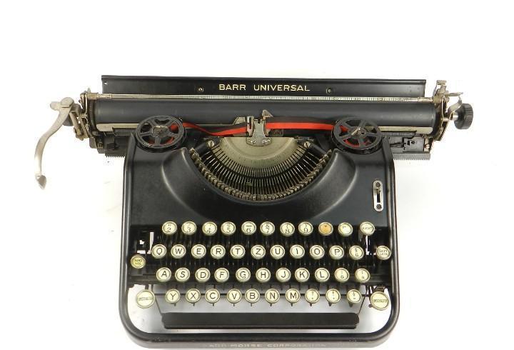 Maquina de escribir barr universal año 1929 typewriter