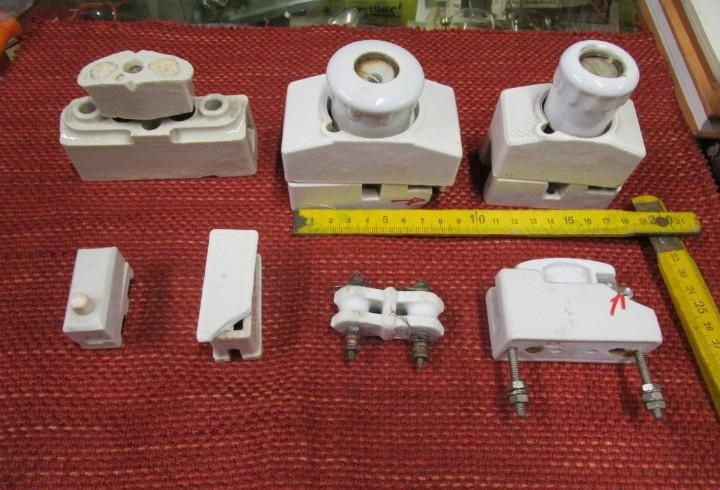 Material electrico coleccionismo - 7 antiguos fusible de