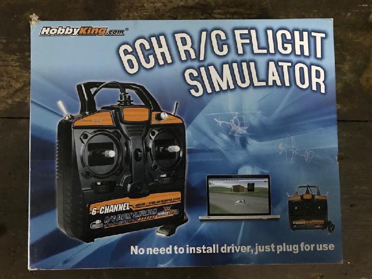 Mando simulador vuelo