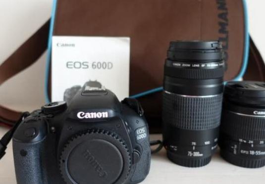 Pack cámara canon eos 600d