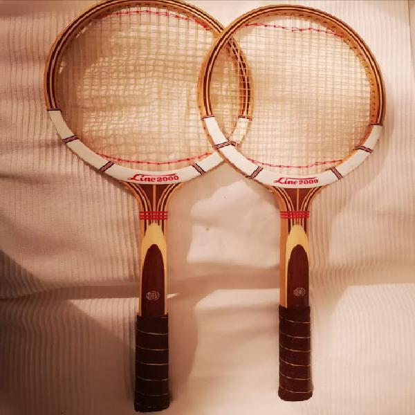 Pareja raquetas de madera vintage linea 2000