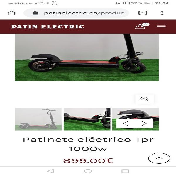 Patinete tpr 1000w 70kmh