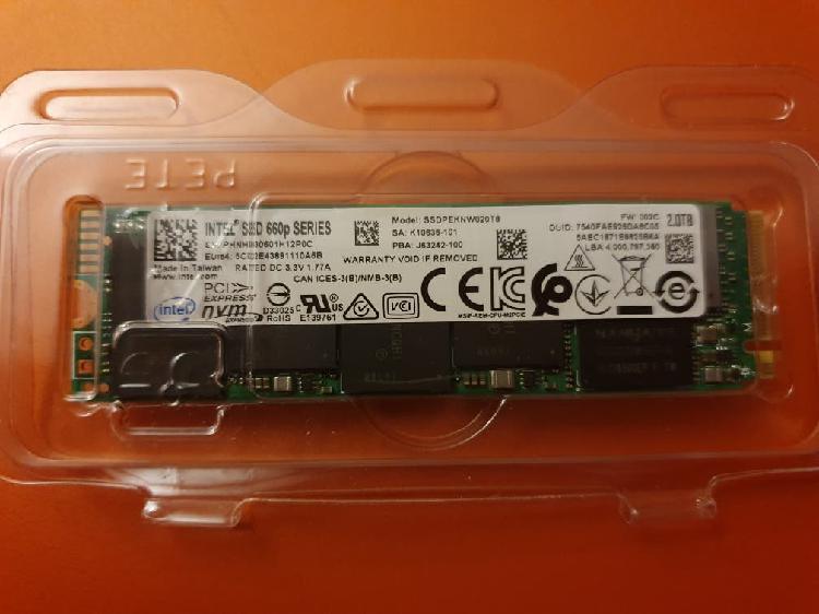 Ssd 2tb intel 660p nvme