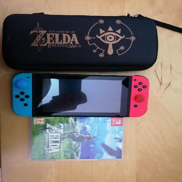 Consola nintendo switch + zelda + funda