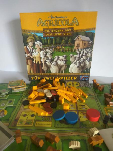 Agrícola para dos jugadores juego de mesa
