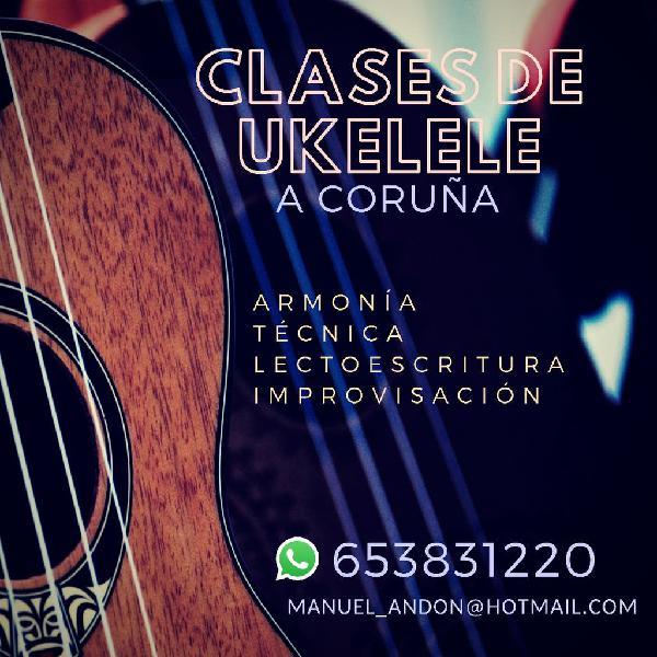 Clases de guitarra, piano, bajo y ukelele