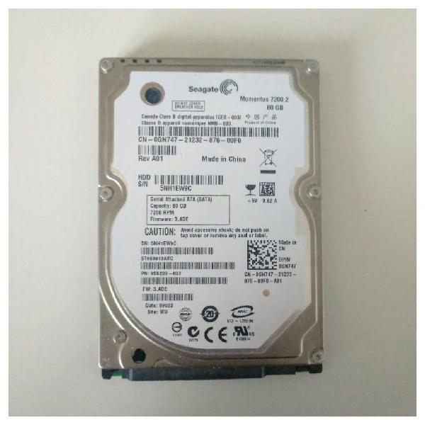 Disco duro 80gb seagate momentus 7200.2 (7200rpm)