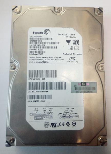 Disco duro de 3.5 sata seagate 750 gb