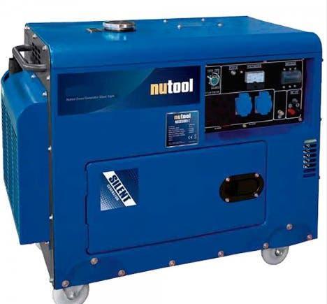 Generador diesel 4.600 w monofásico nutool(bd)