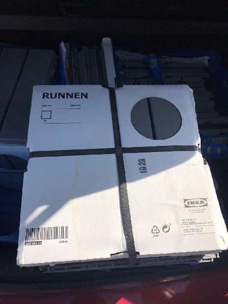 Ikea runner, baldosas suelo exterior