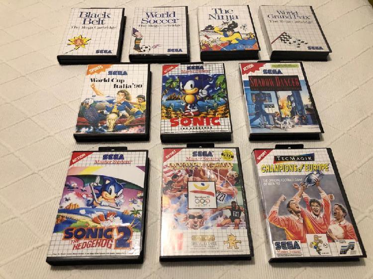 Lote 10 videojuegos sega master system